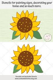 sunflower stencil great for wood signs