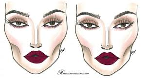 how to dramatic face chart makeup tutorial