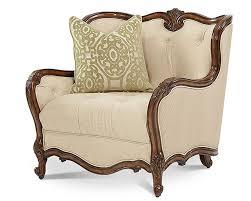 aico lavelle melange wood trim chair a half ai 54838 bisqu 34