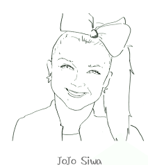 Let your child have fun coloring these free printable coloring pages. Jojo Siwa Coloring Page Coloring Ideas