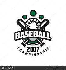 Baseball Championship 2017 Logo Template Design Element For