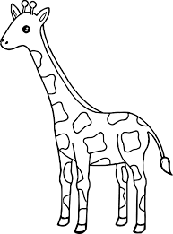 Small Picture Tall Giraffe Coloring Page Wecoloringpage