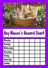 Amazon Com Cats In A Basket Star Sticker Reward Chart
