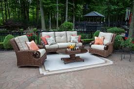 patio couch set. The Aerin Collection 5-Piece All Weather Wicker Patio Furniture Deep Seating Set Couch