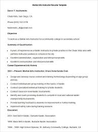 A Good Resume Template Impressive Sample Martial Arts Instructor Resume Template How To Make A Good