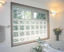 prefabricated vinyl frame glass block exterior window using 8 x 8 and 6