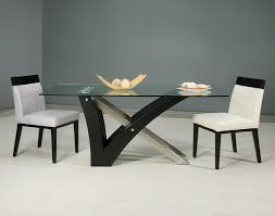 black wood rectangular dining table. C Shape Black Wooden Table Legs Combined With Silver Steel Also Rectangle Glass Top Wood Rectangular Dining R