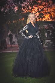 black tutu long black tutu skirt sewn tutu
