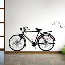 metal bicycle wall decor stickers vintage bicycle vinyl wall sticker bike wall decals mural wall art wallpaper living room home decor house decoration in  on metal vintage bicycle wall art with metal bicycle wall decor stickers vintage bicycle vinyl wall sticker