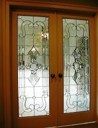 stained glass interior french doors a pair of door panels with zero color stained glass panel
