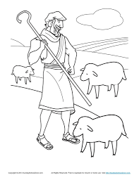 Bible Coloring Pages For Kids The Shepherd Tends His Flock In ...