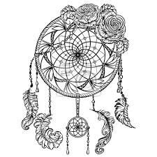 Obraz Lapač Snů S Ornamentem A Růží Tetování Retro Poutač Karty