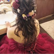 お花を使ったヘアアレンジ特別な日やデートにぴったりの華やかヘア