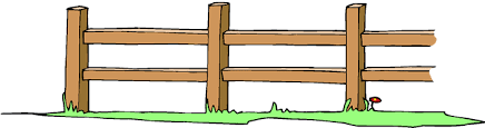 farm fence drawing. A Cartoon Drawing Of Wooden Fence In Grassy Field Farm I