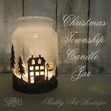How To Decorate Candle Jars Christmas Township Candle Jar Hometalk 79