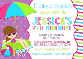 Free Party Invitation Templates Together With Pool Party