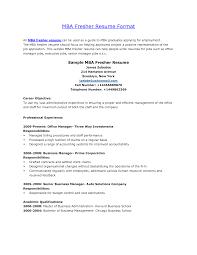 How To Write Resume Headline For Freshers Mba Finance Resume Format