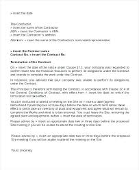 Business Contract Termination Letter Blogue Me