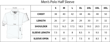 Polo Size Chart Size Chart Pakka Local Ideas