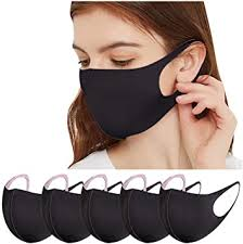 <b>Reusable</b> and <b>Washable Ear Loop</b> Face-MASKs for Adult, 5 Pcs ...