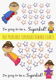 Sticker Reward Chart Printable Free Free Printable Superhero Reward Chart Reward Chart Kids
