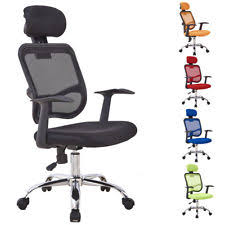 high back mesh office chair with leather effect headrest. gizza computer desk chair with headrest high back mesh office home furniture new leather effect