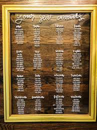 Custom Made Wedding Seating Chart