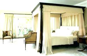 Metal Frame Canopy Bed White Canopy Bed Canopy Bed Frame Queen Wood ...