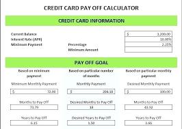 Credit Card Payoff Schedule Debt Payoff Calculator Excel Pay Off Debt Calculator Excel Debt