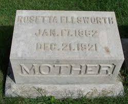 Rosetta Dillon Ellsworth (1862-1921) - Find A Grave Memorial
