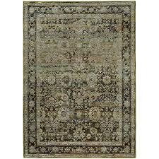 oriental weavers andorra 7125c green brown area rug