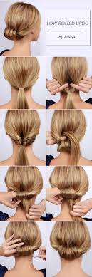 Simple But Chic Low Rolled Updo