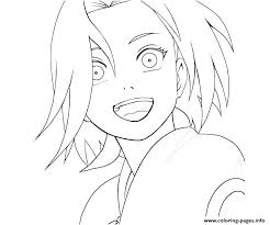 Happy Sakura Naruto S3b13 Coloring Pages Printable