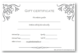 Gift Certificate Template Word Free Download Free Gift Certificate
