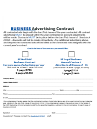 Business Contract Template Datariouruguay Advertisi