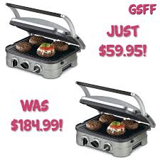 cuisinart 5 in 1 griddler just 60 down from 185 plus free