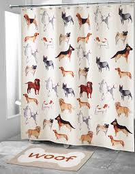 dogs on parade shower curtain collection