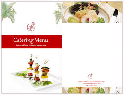 Free Catering Menu Templates For Microsoft Word Venue Catering Menu Template Free Template Downloads