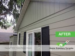 aluminum siding painting before and after gallery