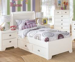 Twin Size Bed For Girl Kids Bed With Storage U 7510 | ecobell.info