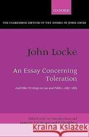 john locke ksiazki pl john locke an essay concerning toleration and other writings on law and politics 1667 1683