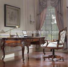 vintage style office furniture. Vintage Style Home Office Furniture, Carved Wooden Writing Desk With  Armchair, Noble Wood Veneer Vintage Style Office Furniture H