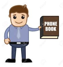 Business Phone Book Showing Phone Book Directory Business Cartoon Royalty Free