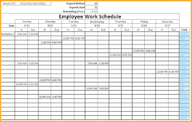 Sample Work Schedule For Employees Work Schedule Spreadsheet Template Castilloshinchables Co