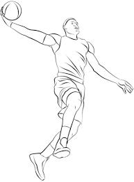 Basketbalspeler Kleurplaat Gratis Kleurplaten Printen