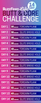 21 Day Plank Challenge Chart For When You Want To Challenge Yourself To Do One Exercise A
