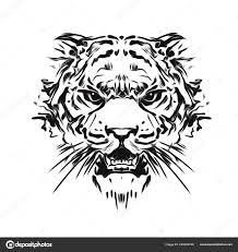 Tetování Tygr Divoká Tvář Stock Fotografie Valik4053022 220943726