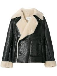 maison margiela 143 mens shearling lined biker jacket uk dns0085