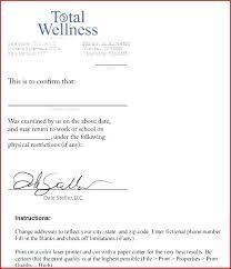Free Doctors Note Template For School Opusv Co