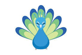 These cuter then life handcrafted gif animal illustrations will engage your audience with their movement and personalities and boost your projects to the next. Peacock Cute Kawaii Style Svg Cut File By Creative Fabrica Crafts Creative Fabrica